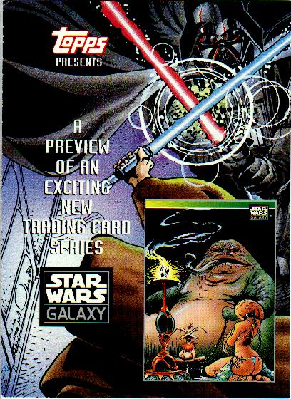 STAR WARS GALAXY SERIES 1 JUST TOYS BEND-EM PROMOTIONAL CARD G